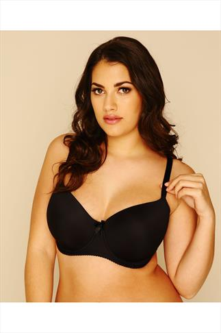 Black Moulded T-Shirt Bra - Best Seller 055259