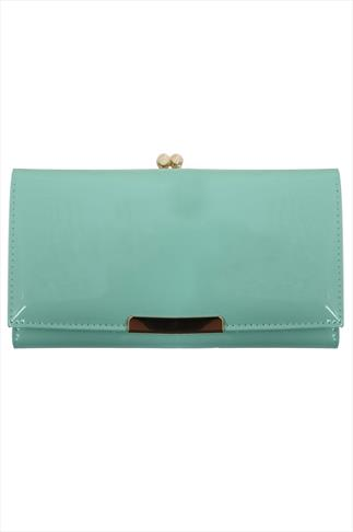Mint Patient Long Purse With Gold Trim