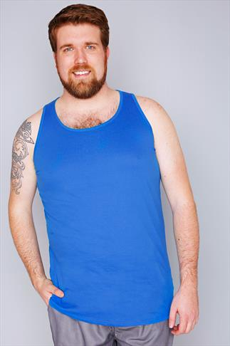 Vests D555 Blue Crew Neck Vest 070368