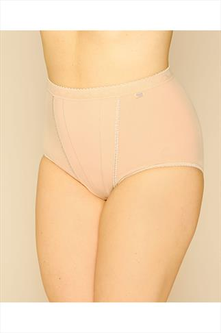 Briefs & Knickers SLOGGI 2 PACK Nude Control Maxi Briefs 014083
