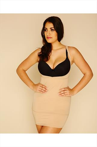 Nude Underbra Smoothing Slip Dress With Firm Control