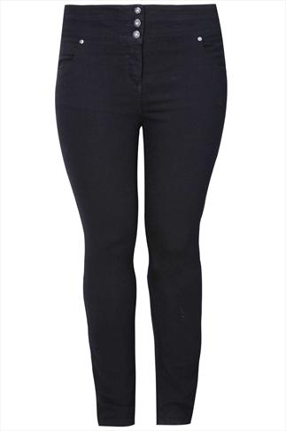 "32"" Black Highwaisted Skinny SHAPER Jeans"