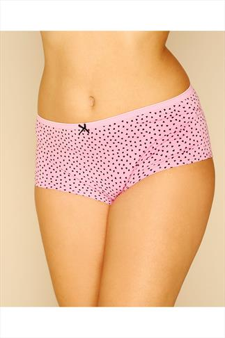 Briefs Knickers 5 PACK Black, Pink, Mint, Purple & Teal Printed And Plain Shorts 056101