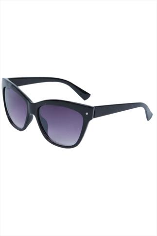 Black Frame Sunglasses With Silver Stud Detail