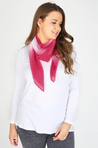 Pink & White Ombre Scarf