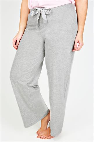Grey Basic Cotton Pyjama Trousers 055271