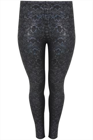 Iridescent Reptile Print Leggings
