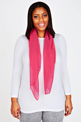 Pink Sheer Dotty Scarf