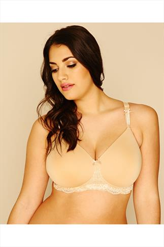 ROYCE Georgia Nude Mastectomy Bra With Lace Trim