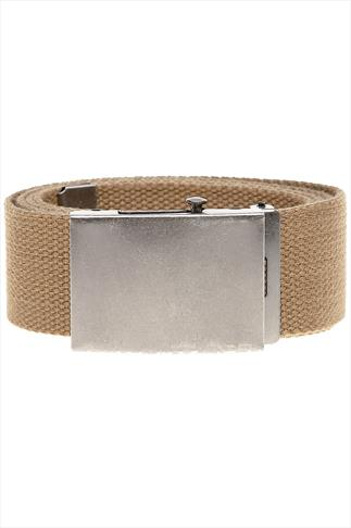 Belts & Braces D555 King Size Khaki Webbing Belt 070361