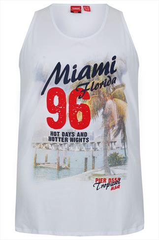 "D555 White ""Miami Florida 96"" Vest"