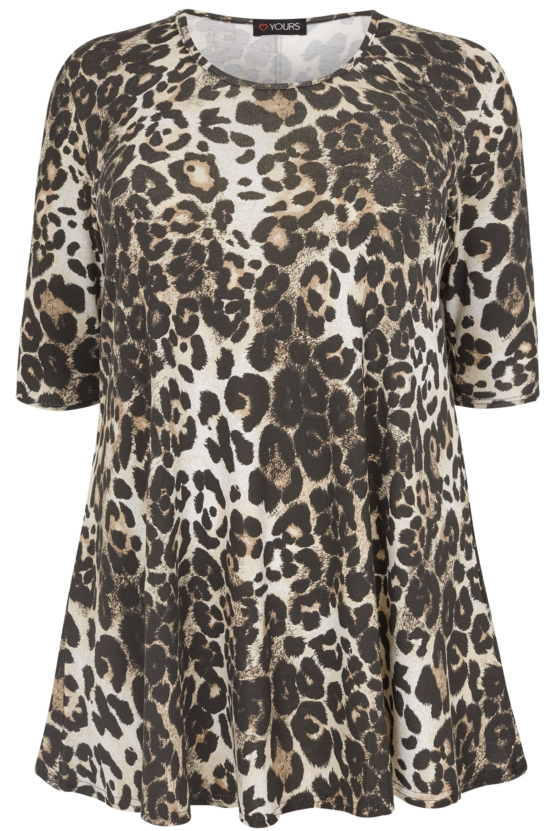 Leopard Print Animal Swing Top Plus Size 16 To 36
