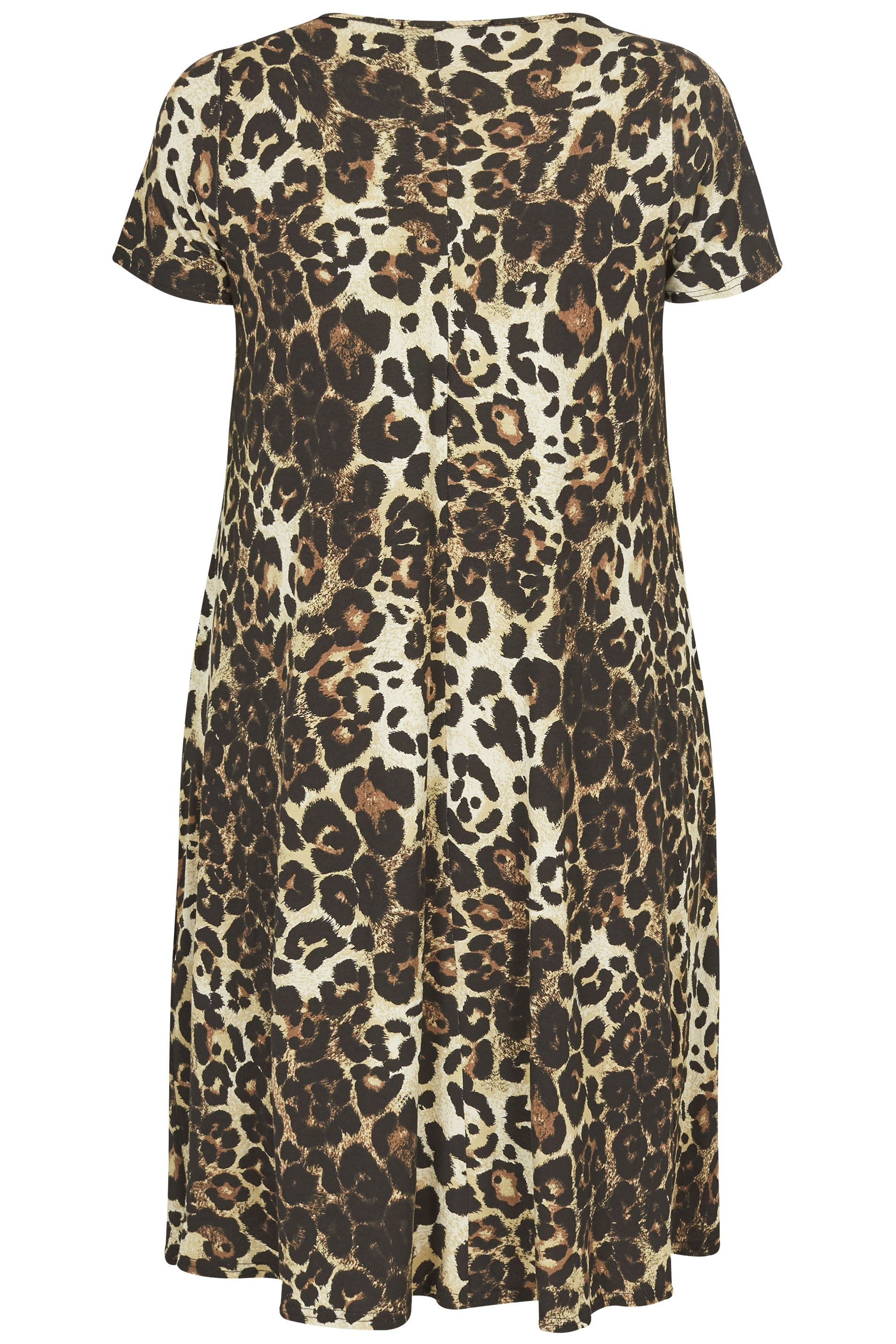 Leopard Print Drape Pocket Dress Plus Size 16 To 36
