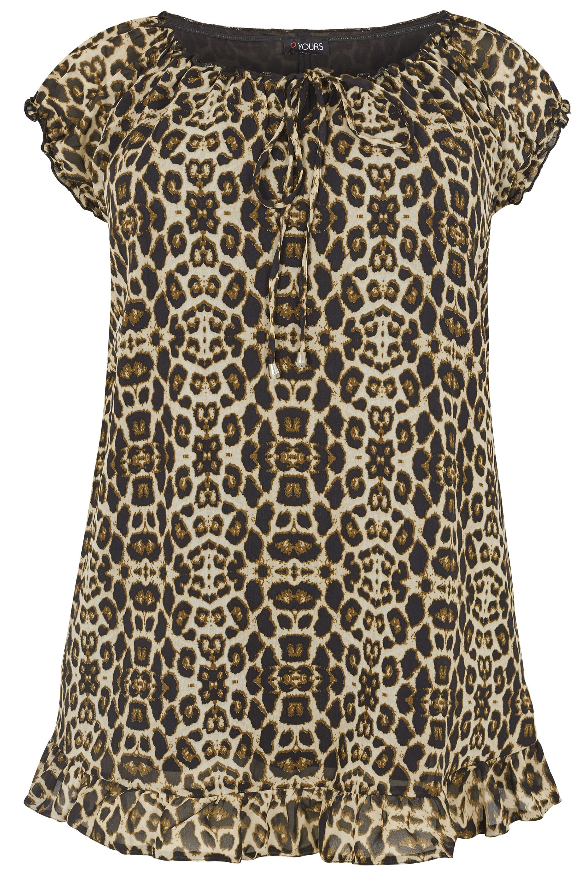 064e1aaff46c Leopard Print Gypsy Top, Plus size 16 to 36