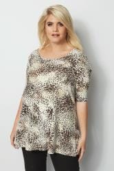 Animal Print Swing Top