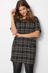 Black & Yellow Check Tunic Dress