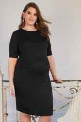 BUMP IT UP MATERNITY Zwarte midi-jurk