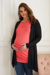 BUMP IT UP MATERNITY -  Cardigan style Cascade Noir
