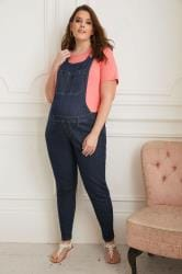 BUMP IT UP MATERNITY Indigo Blue Super Stretch Dungarees