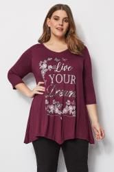 Berry Sequin Embellished Top