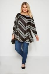 Black & Grey Chevron Top