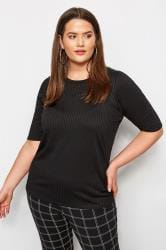 LIMITED COLLECTION Black Ribbed Top