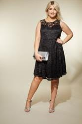 Black Sleeveless Lace Dress