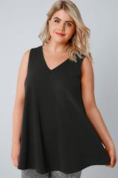 Black Sleeveless Swing Top