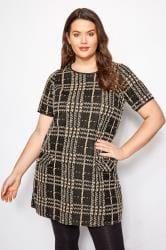 Black & Tan Jacquard Pocket Tunic