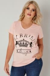 Blush Pink 'Harried Away' T-Shirt