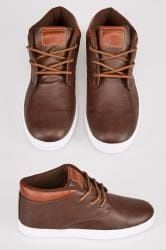 Brown Lace Up Mid Boots