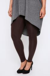 Brown Viscose Elastane Leggings