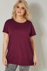 Burgundy Mock Pocket T-Shirt