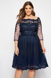 CHI CHI Navy Darin Dress