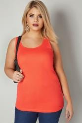 Coral Cotton Vest Top
