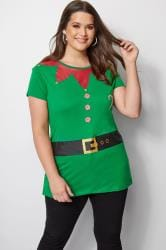Green Novelty Christmas Elf T-Shirt
