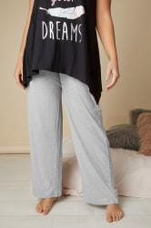 Grey Basic Cotton Pyjama Bottoms