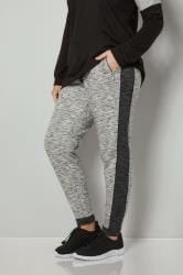 Grey Colourblock Joggers With Zip Pockets