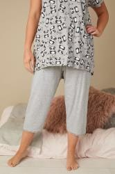 Grey Marl Cropped Pyjama Bottoms