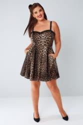 HELL BUNNY Multi Leopard Print Mini Dress