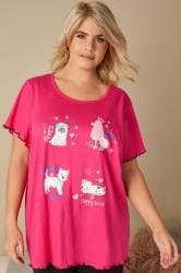 Hot Pink Dog Pyjama Top