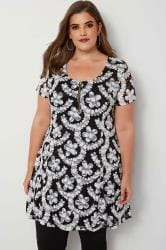 IZABEL CURVE Black Mesh Floral Dress