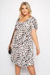 IZABEL CURVE Black & White Daisy Dress