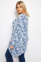 IZABEL CURVE Blue Paisley Top