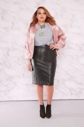 LIMITED COLLECTION Black PU Midi Pencil Skirt