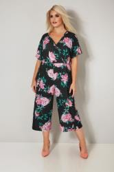 LIMITED COLLECTION Black & Pink Floral Jumpsuit
