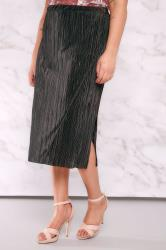 LIMITED COLLECTION Black Plisse Wrap Skirt