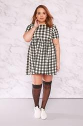 LIMITED COLLECTION Black & White Gingham Print Tunic Dress