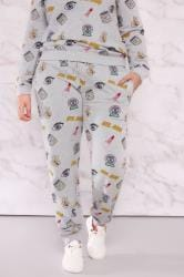 LIMITED COLLECTION Grey & Multi 'Girl Gang' Joggers