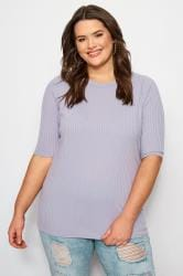 LIMITED COLLECTION Lilac Ribbed Top